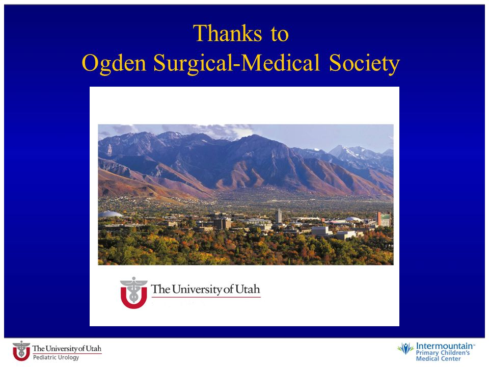 Thanks to Ogden Surgical-Medical Society