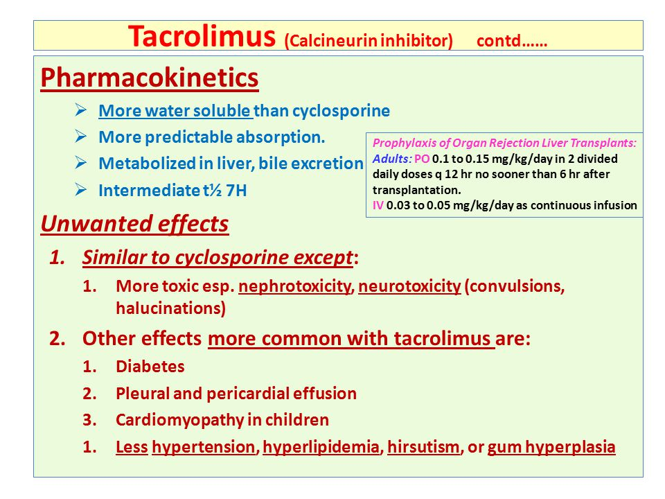 Tacrolimus Level