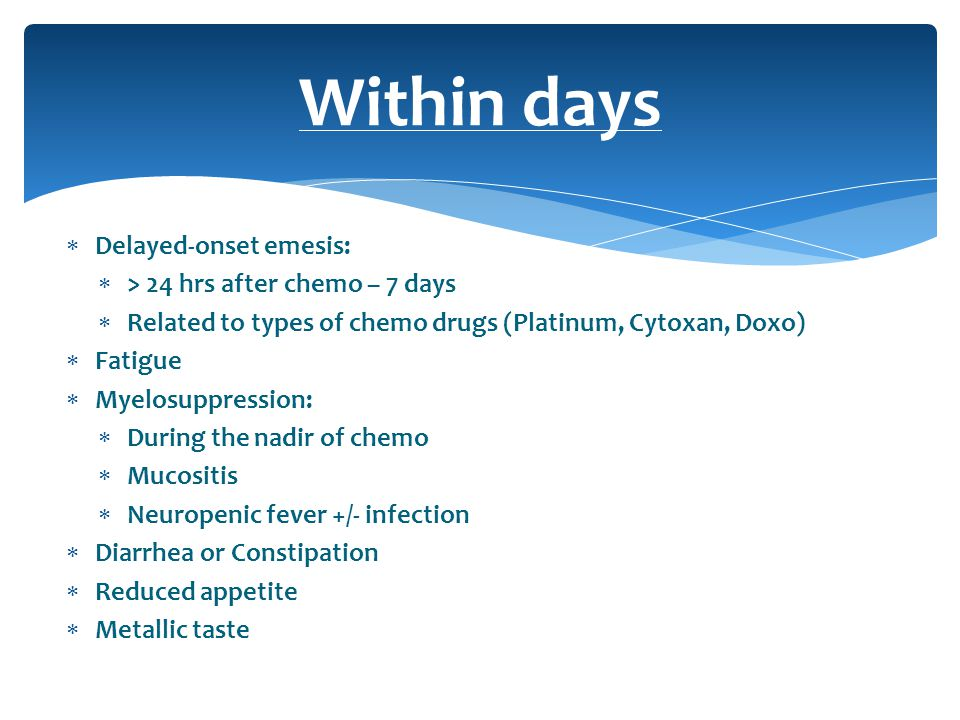 Management Of Chemotherapy Complications Ppt Download