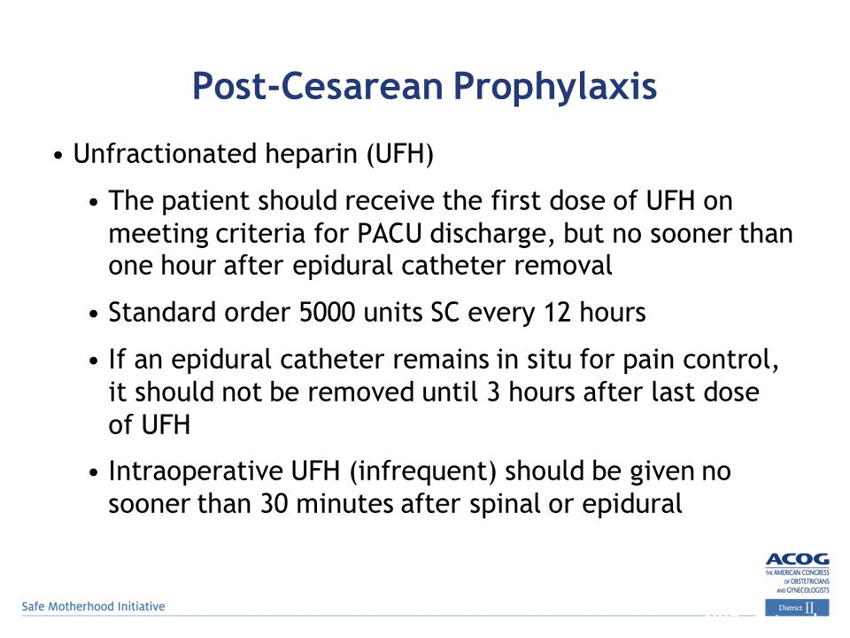 Post-Cesarean Prophylaxis