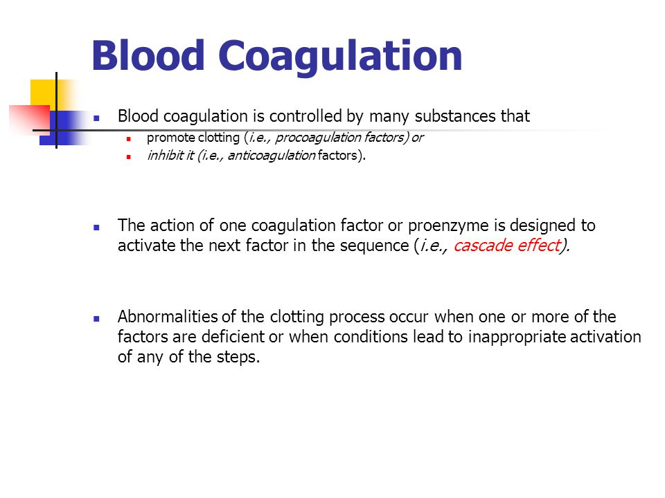 blood coagulation process