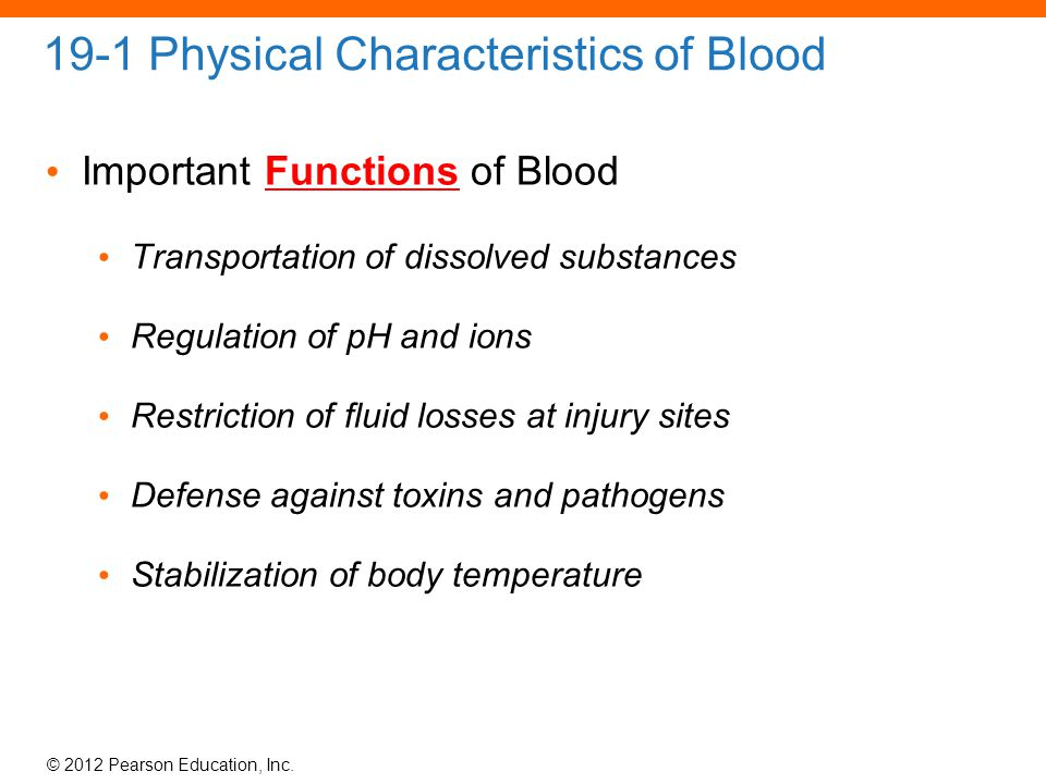 an analysis of the characteristics and functions of blood Blood is vital for normal metabolic function due to the transfer of oxygen, carbon  dioxide,  describe the physical characteristics and volume of blood in adults.