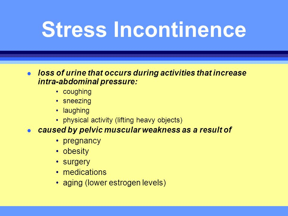 Managing Urinary Incontinence Ppt Download