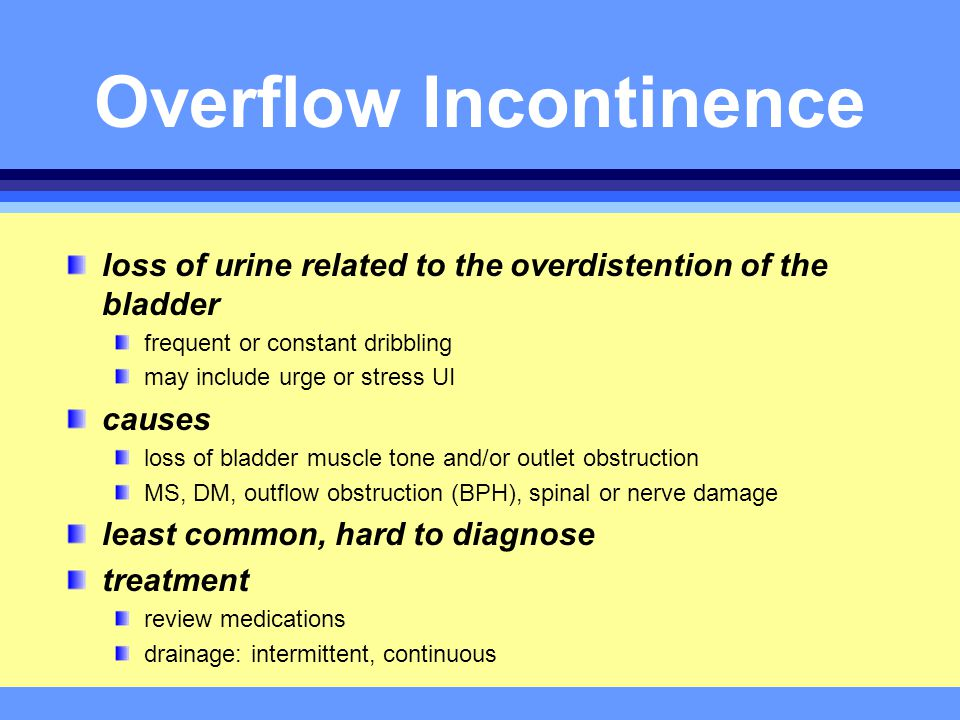 Managing Urinary Incontinence