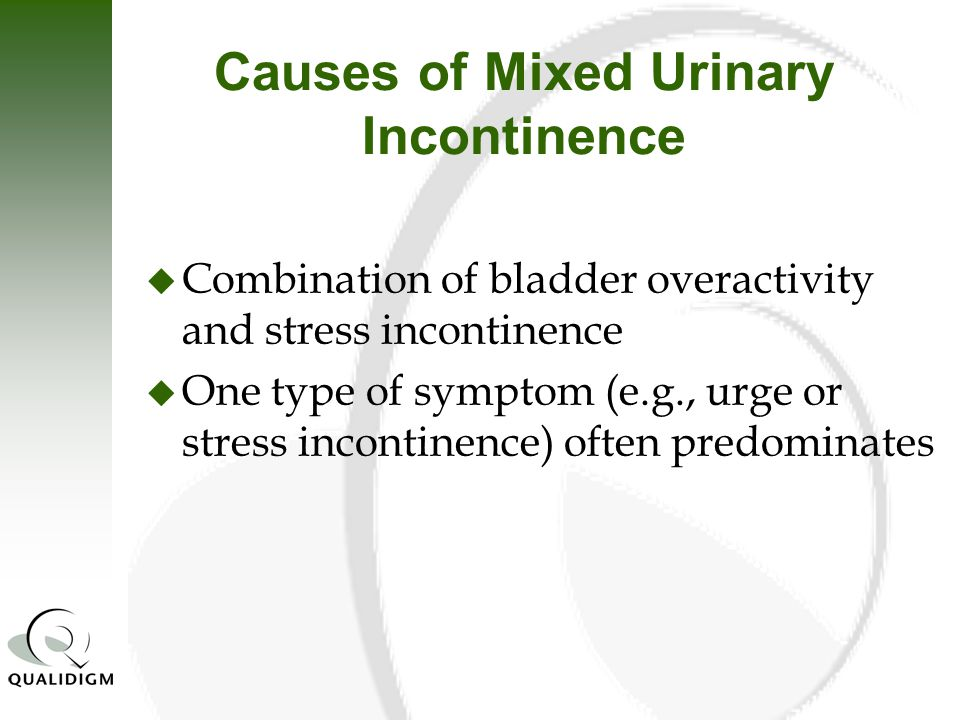 Overview of Urinary Incontinence (UI) in the Long Term ...