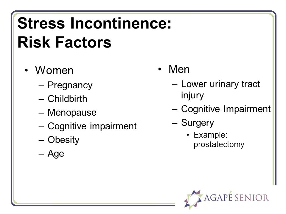 urinary incontinence and risk