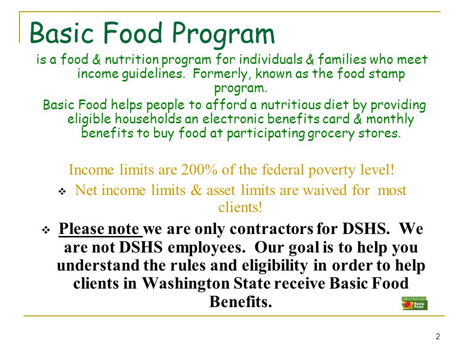 Federal Food Program Income Guidelines