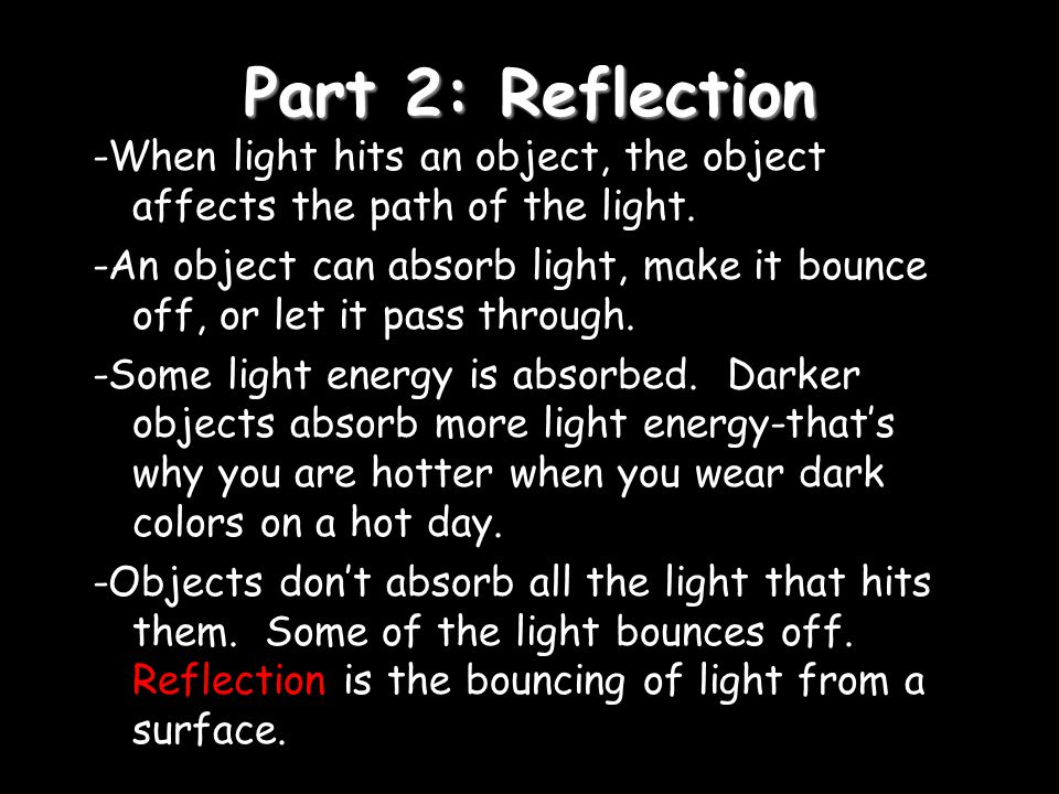 Part 2: Reflection