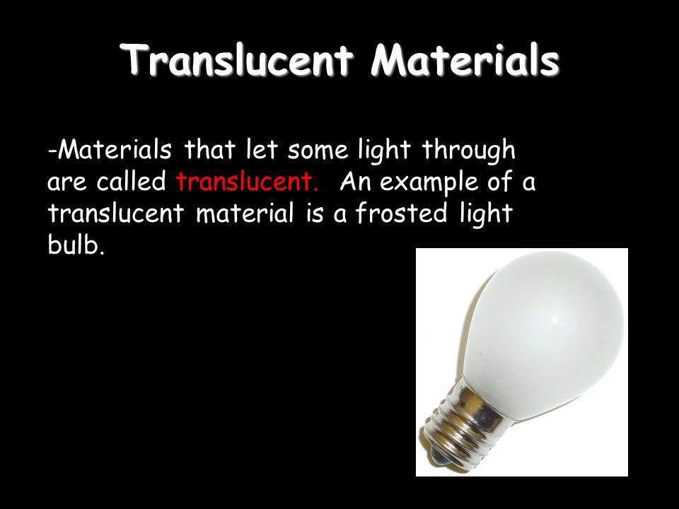 Translucent Materials