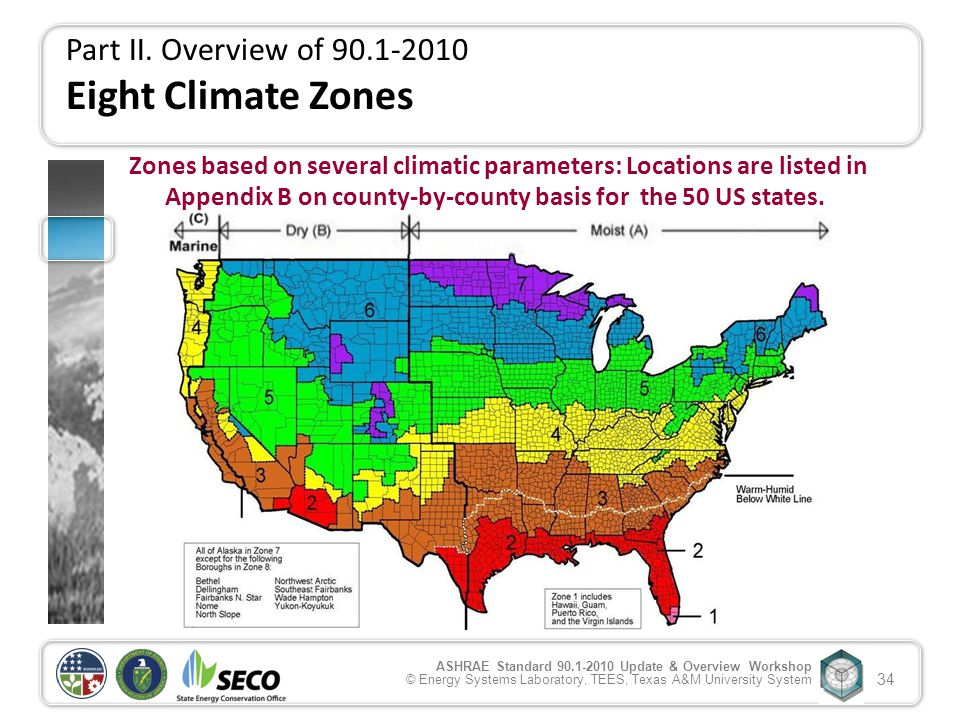 ANSI ASHRAE IESNA Standard Update Overview Ppt - Ashrae climate zone map