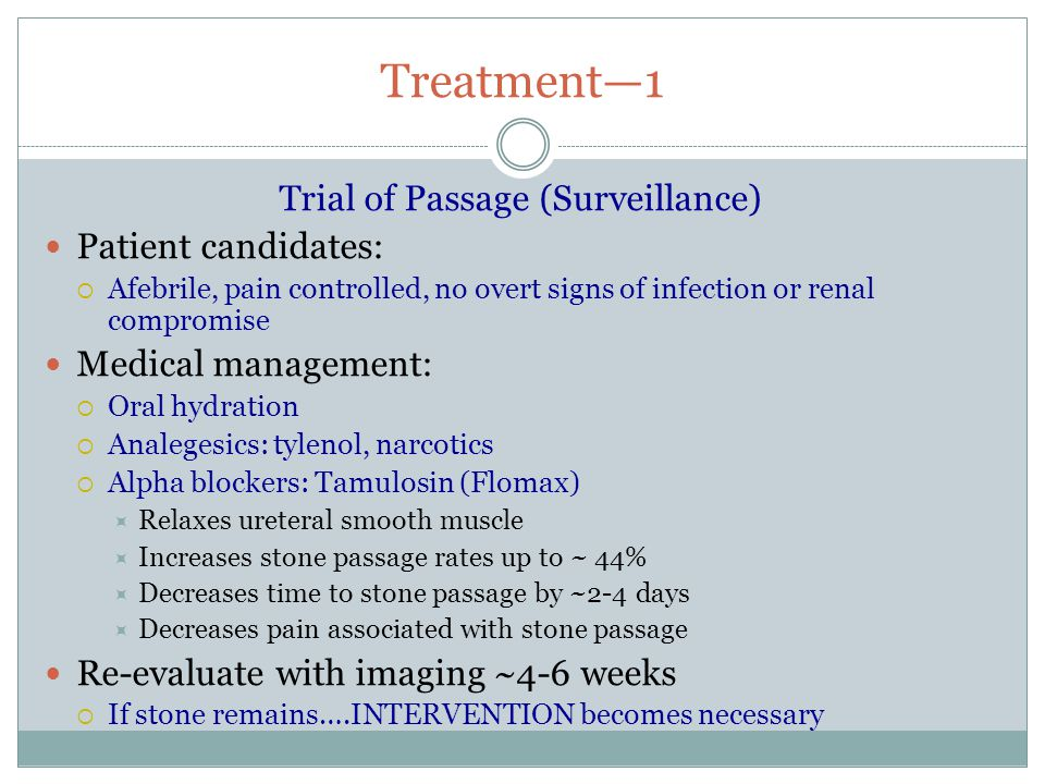 Flomax For Kidney Stone Passage