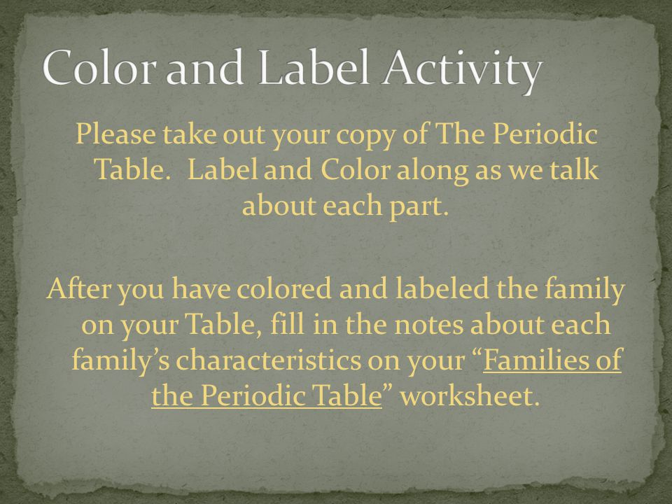 The periodic table all of the matter in the universe is made up of color and label activity urtaz Gallery