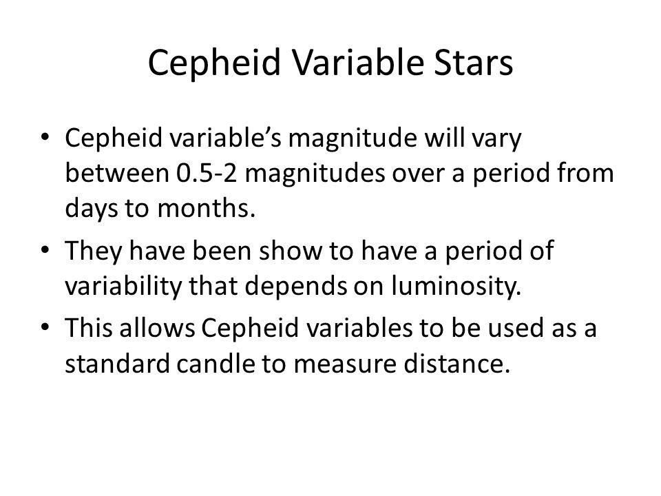 how to find distance of a cepheid