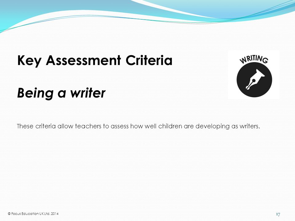 What the National Curriculum requires in writing at Y1