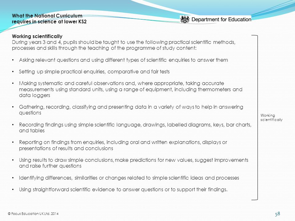 changes identified in english in the national curriculum Curriculum development: an overview  federal government by way of national organizations  of a curriculum to changes in the work world has much bearing on the .