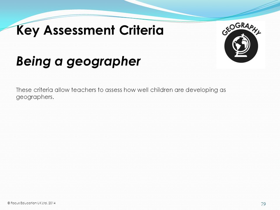 What the National Curriculum requires in geography at KS1