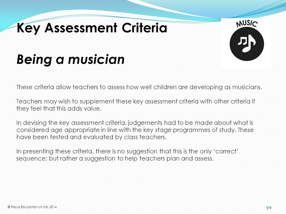 What the National Curriculum requires in music at KS1 and KS2
