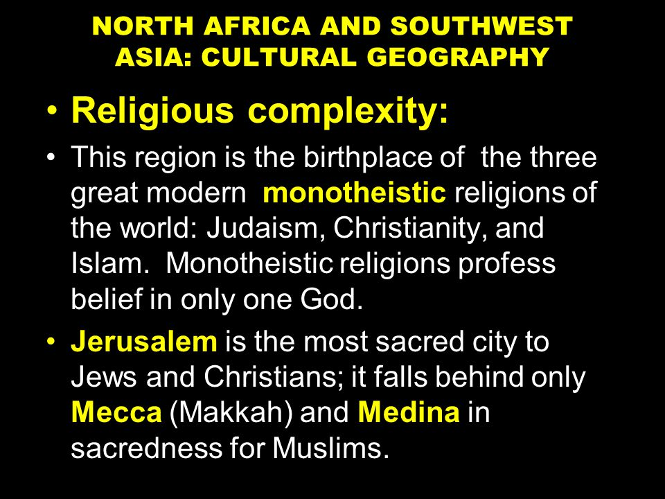 world religions and the north africa southwest Take this short mobile-friendly quiz online and see what you know about religions in southwest  religion in southwest asia & northern africa  north america.