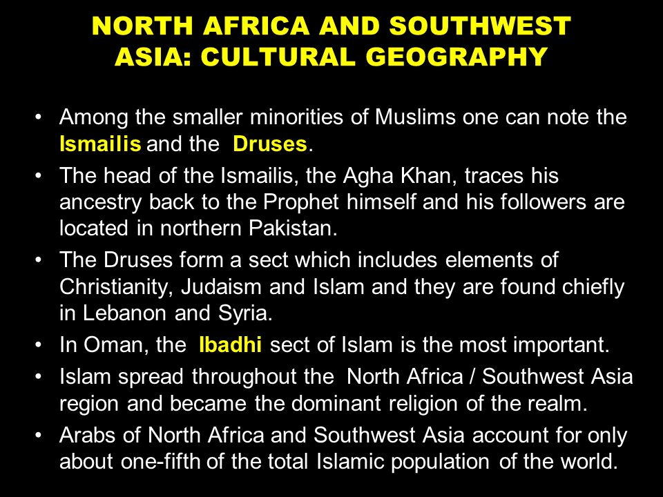 an analysis of the realms of north africa and south west asia Southwest asia and northern africa‎  ‎ and will spread more throughout southwest asian and northern africa because of the winners of the nobel.