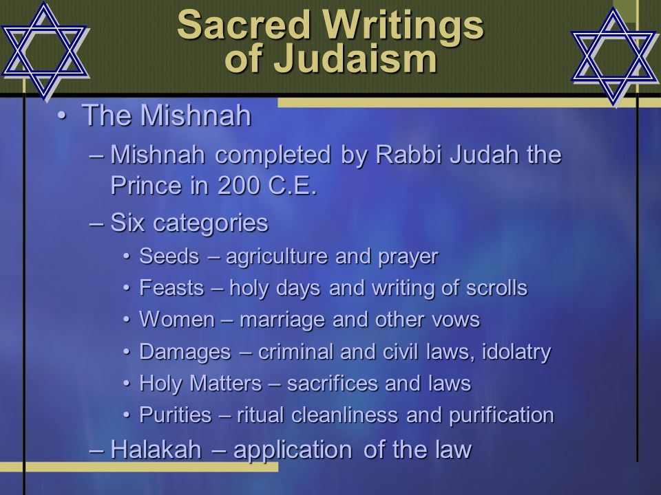 sacred writings of judaism The sacred scriptures of judaism consist of three groups of documents: the law,  the prophets, and the writings (such as psalms and proverbs.