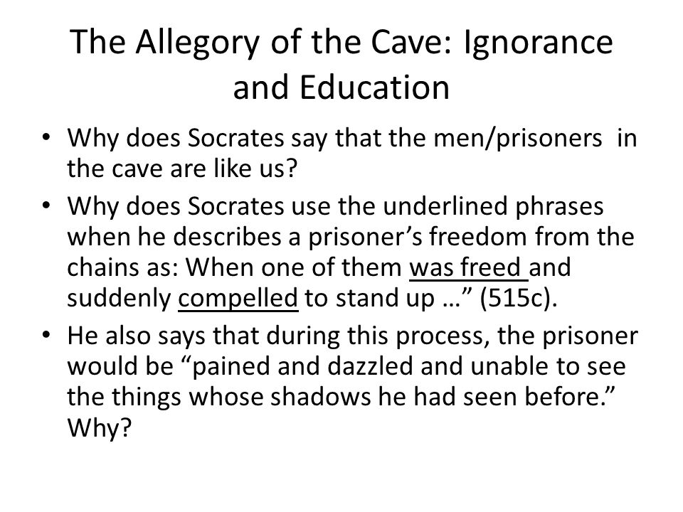 allegory of the cave essay 7 Plato's the allegory of the cave is one of plato's best known allegories book 7 of the republic is where the allegory is told and interpreted.
