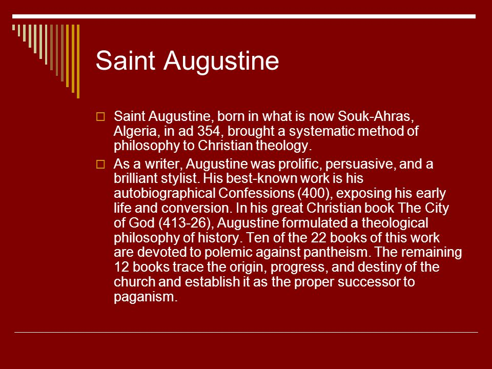 st augustines reflection on life and the greatness of god He further proclaims the greatness of the lord in the prayer that has become   let us reflect on our own call by name by god to serve him in our lives in a life of .