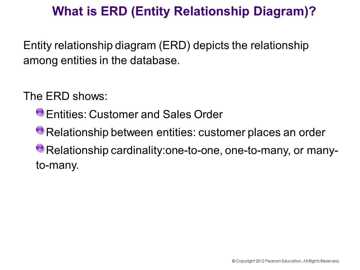 What is ERD (Entity Relationship Diagram)