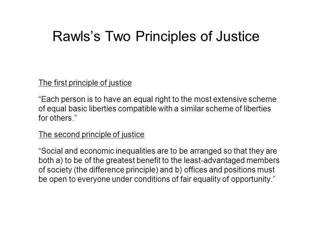 Rawls's Two Principles of Justice