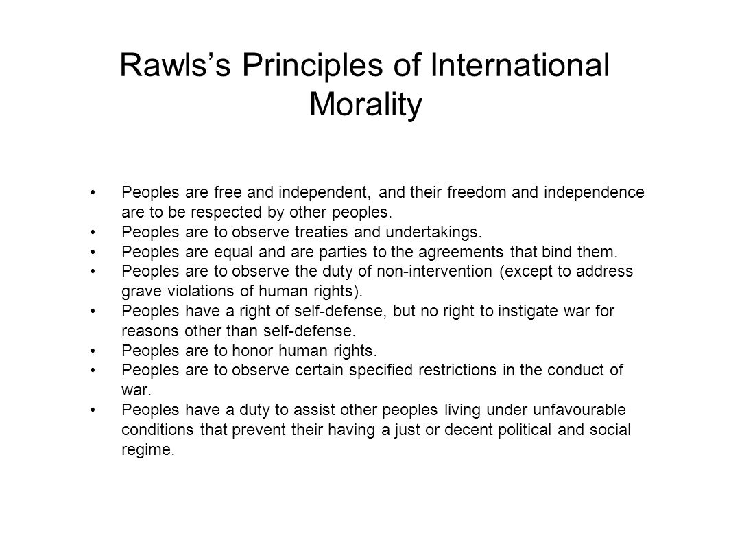 Rawls's Principles of International Morality