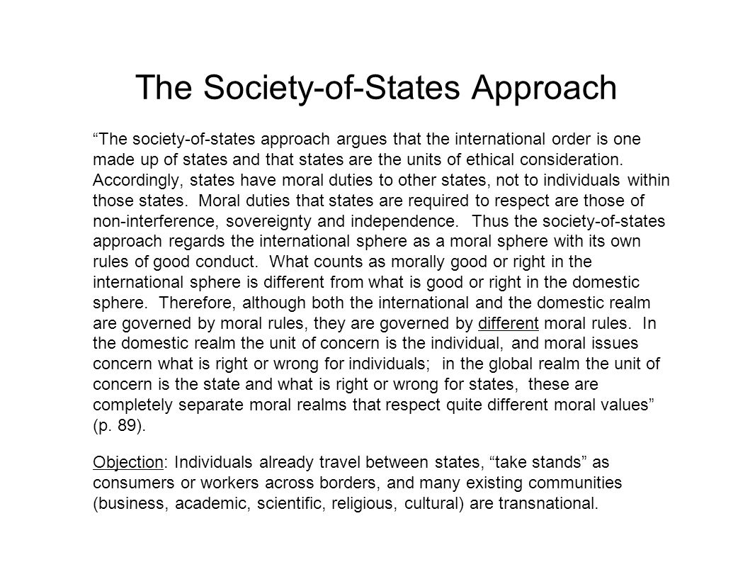 The Society-of-States Approach