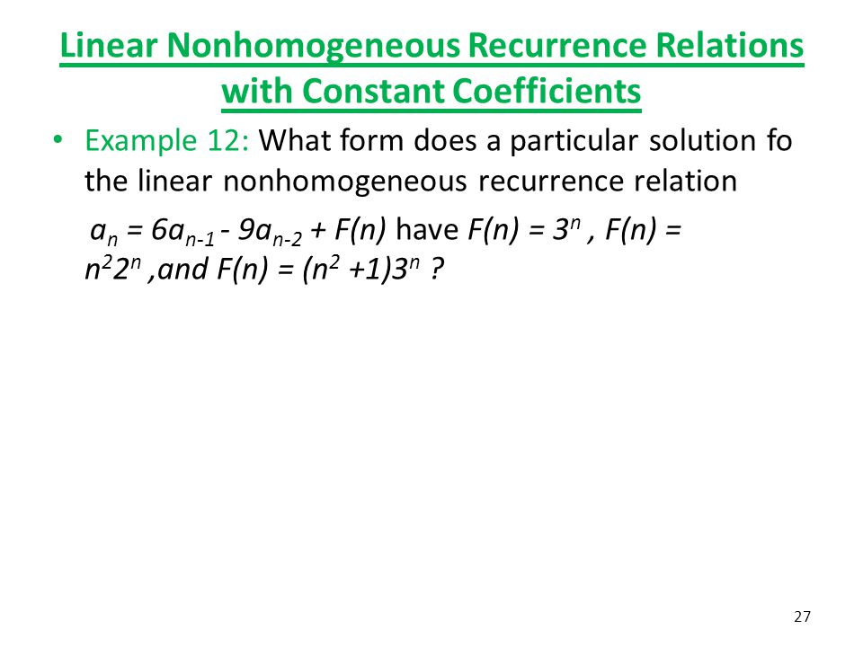how to find recurrence relation