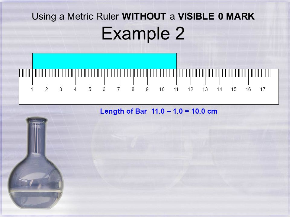 metric ruler labeled. using a metric ruler without visible 0 mark example 2 labeled