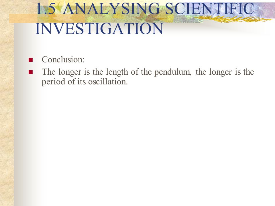 an analysis of science investigation