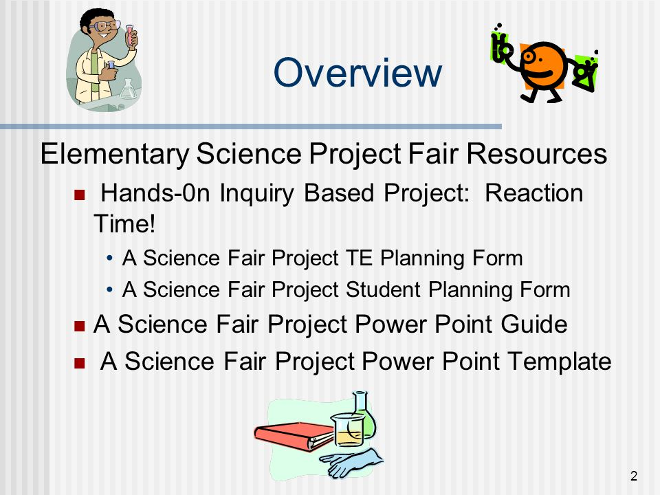 Overview Elementary Science Project Fair Resources
