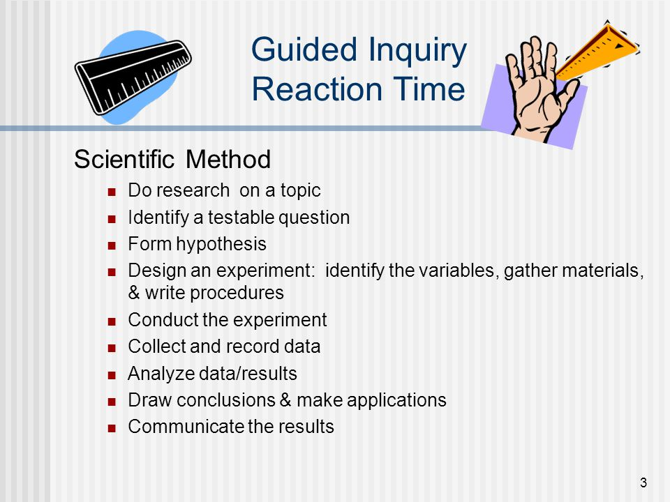 Guided Inquiry Reaction Time