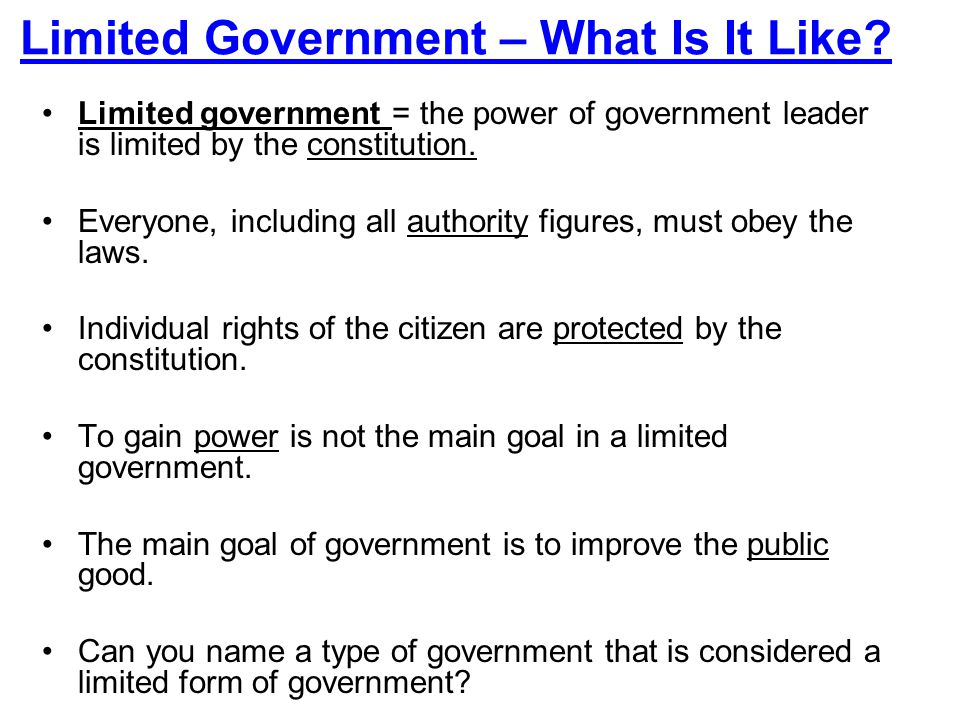 3 Limited Government ...