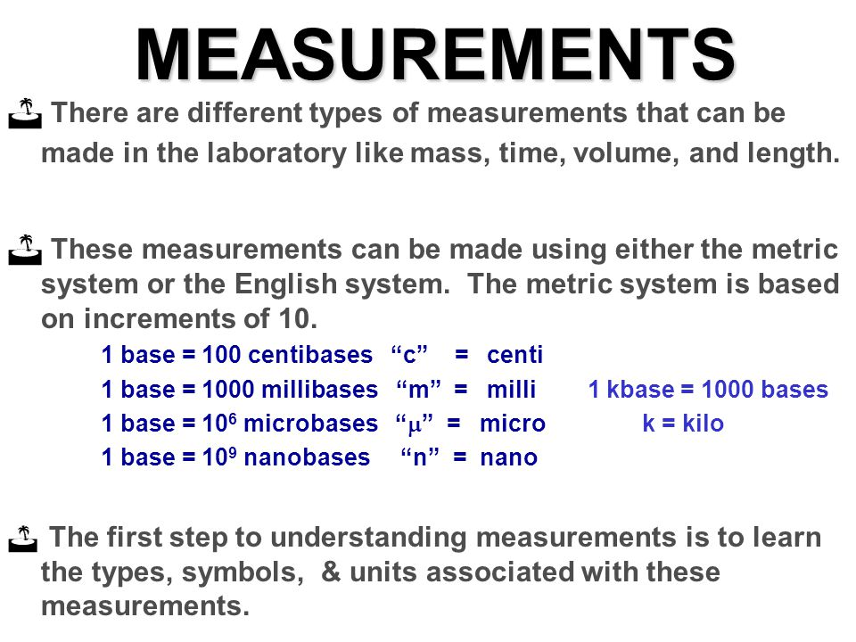 Measurements There Are Different Types Of Measurements
