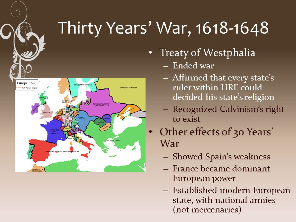 effects of the 30 years war The thirty years war (london, 1984), xv, makes the opposite—and more plausible—claim that wedgwood represents a continuation of the german war approach 7 sh steinberg, 'the thirty years war: a new interpretation', history , xxxii (1947), 89–102 the 'thirty years war' and the conflict for european hegemony 1600–1660 (london, 1966).