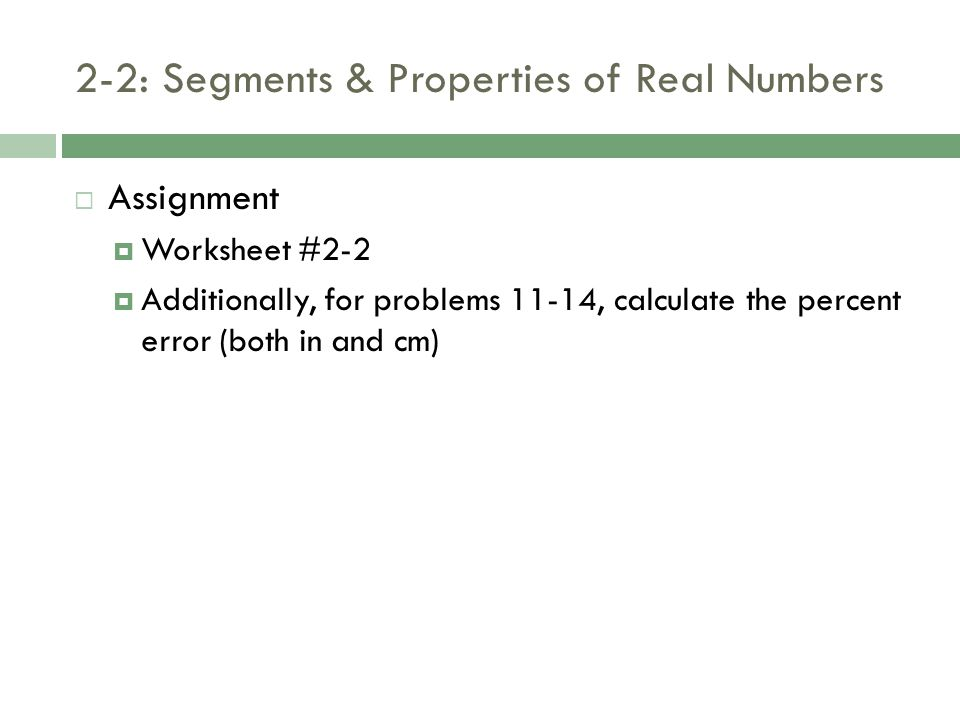 22 Segments and Properties of Real Numbers ppt download – Properties of Real Numbers Worksheet