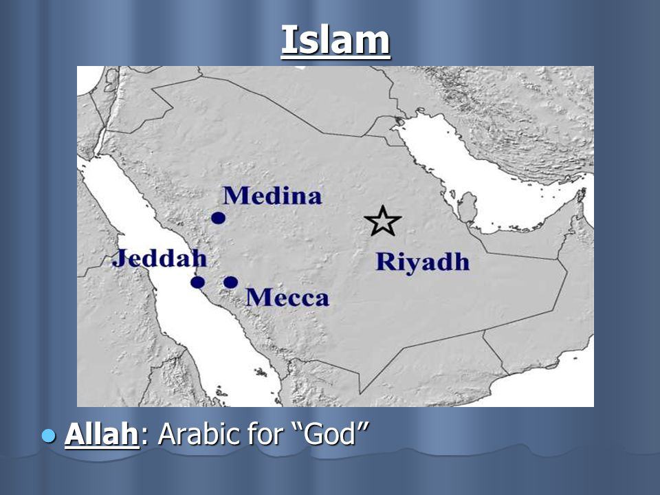 Islam Allah: Arabic for God