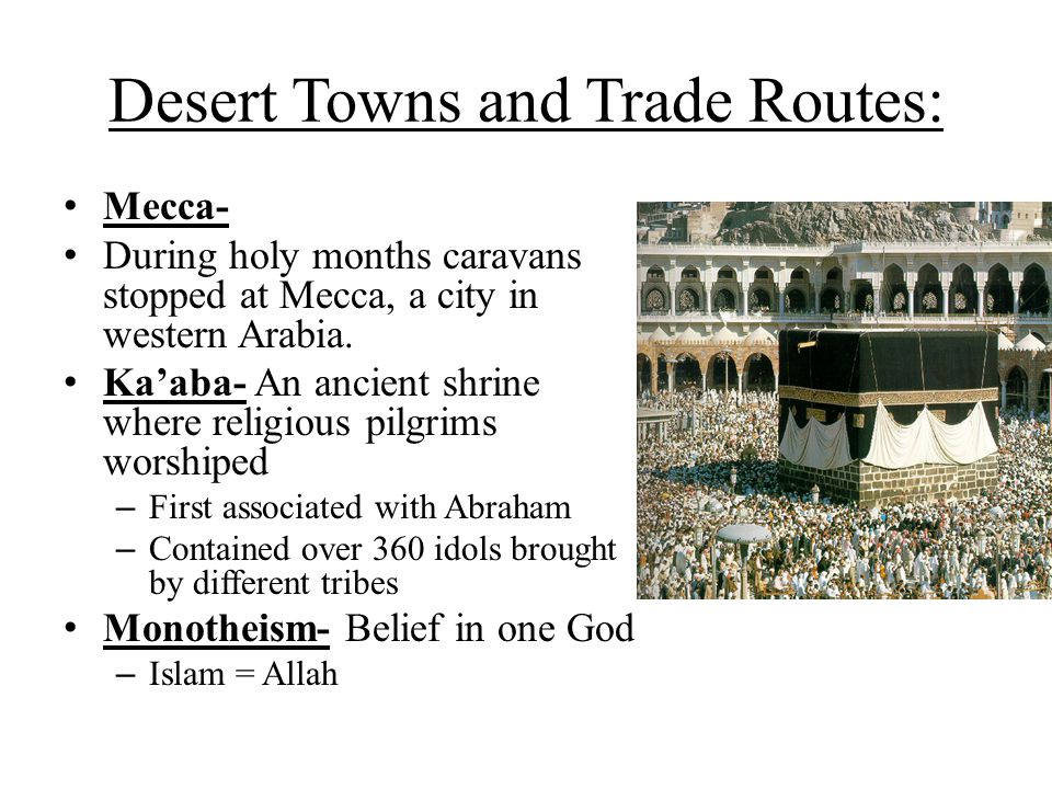 Desert Towns and Trade Routes: