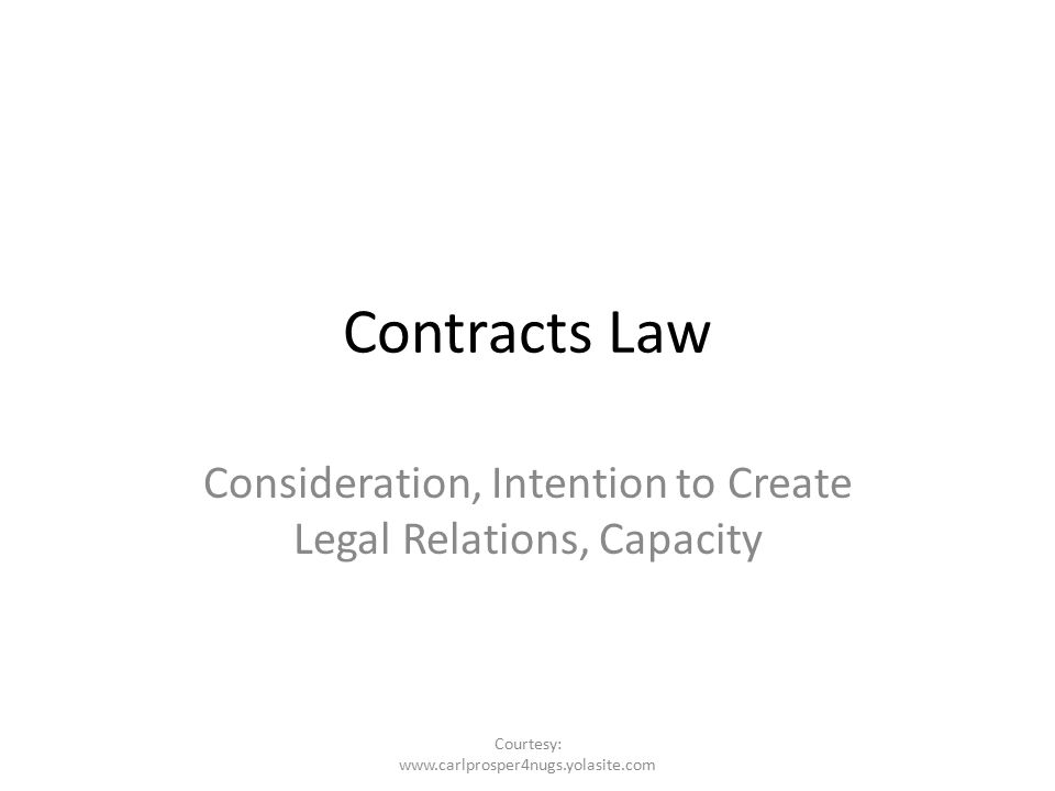 intention to create legal relations Pdf | intention to create legal relations' forms the basic ingredient of any valid  contract in many jurisdictions around the world the paper argues that such.