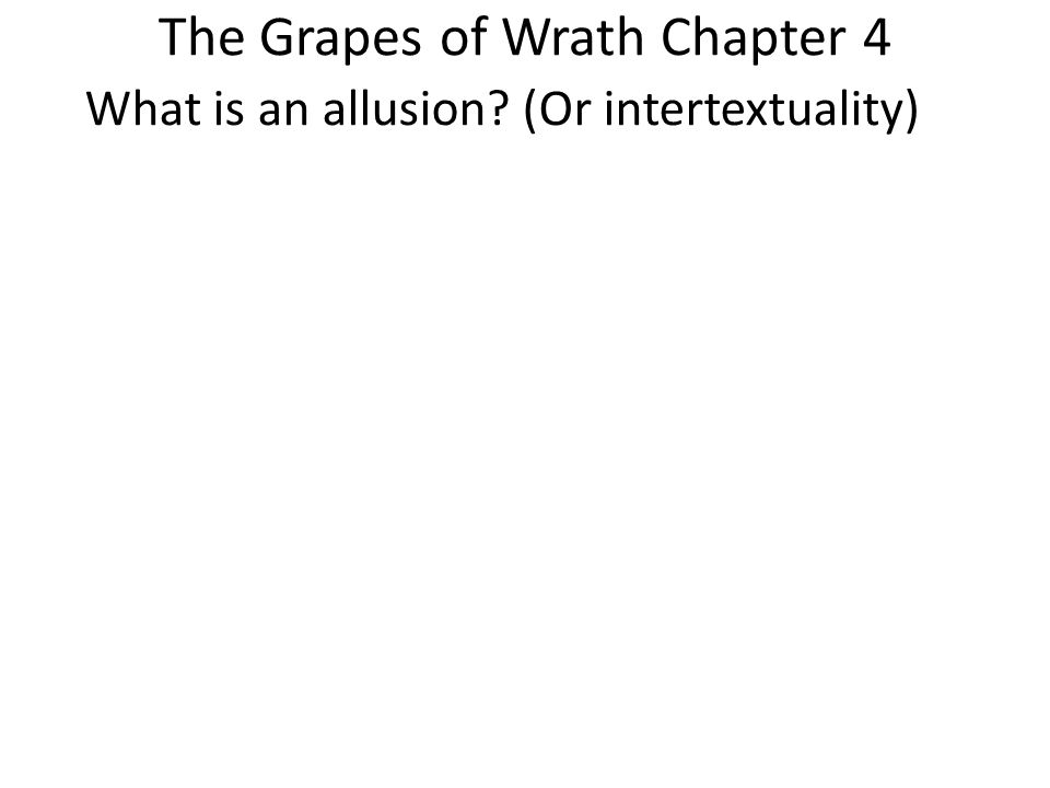 biblical allusions and symbolism in the grapes of wrath by john steinbeck Iblical allusions and imagery in steinbeck's the grapes of wrath john steinbeck always makes it a point to know about his subjects first hand.