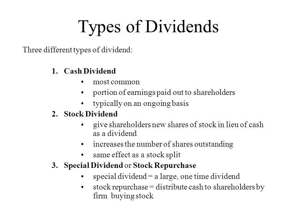 The Effects of Dividend Policies on Stock Prices