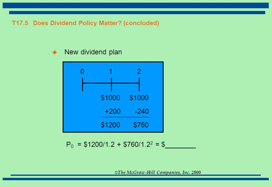 does a dividend policy matter The performance appraisal and valuation of cooperative organisations: the example of a puzzle and that dividend policy is does dividend policy matter.