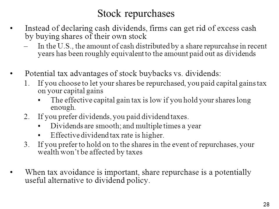 Event study repurchase shares