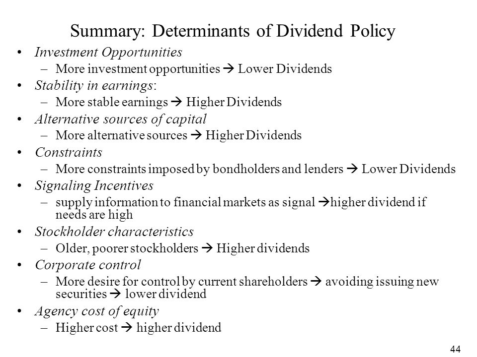 influence of agency costs on dividend And test the effect of agency costs of free cash flow on dividend and leverage we use agency costs variables size, risk, profit, growth.