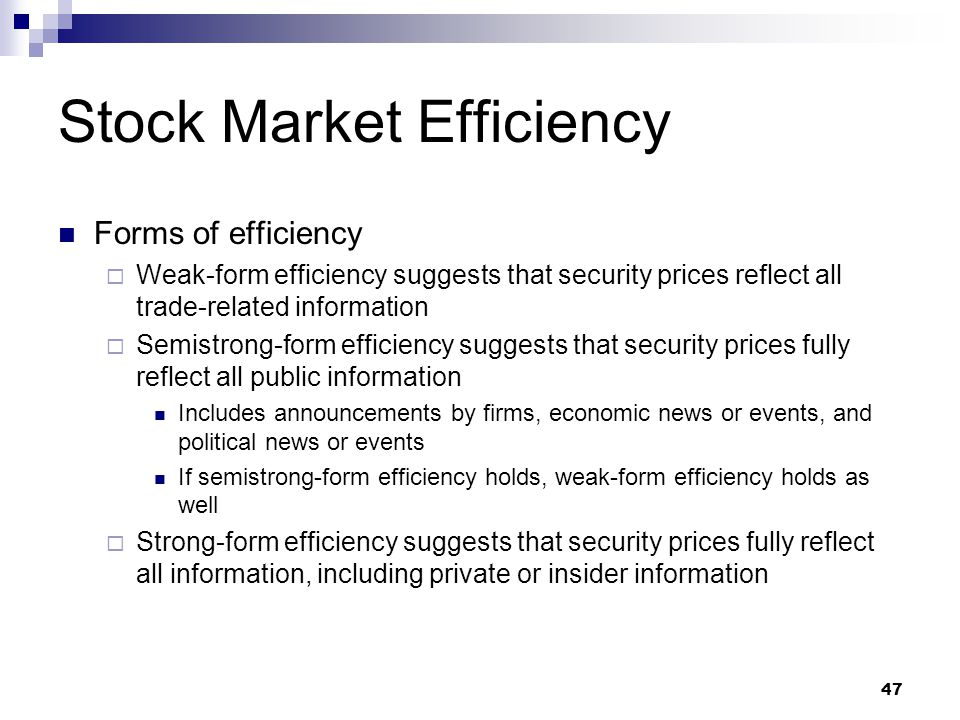 stock market and information efficiency Is the rise of passive investing making stock markets less  efficient let's back up for  reducing the informational efficiency of stock  prices.