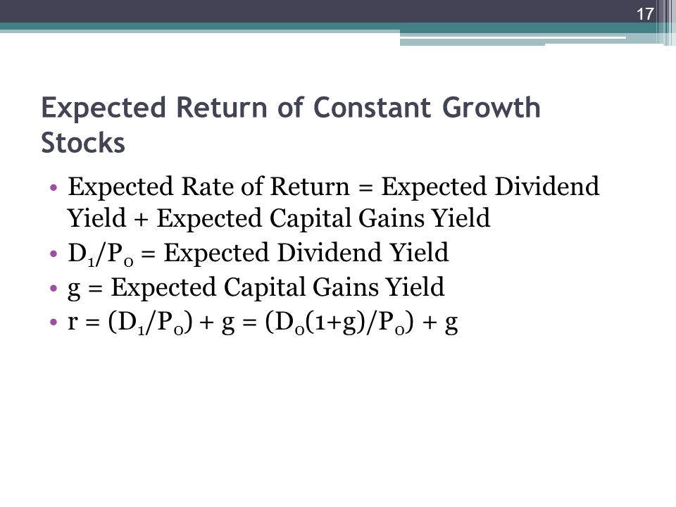 dividend yield and capital gains relationship