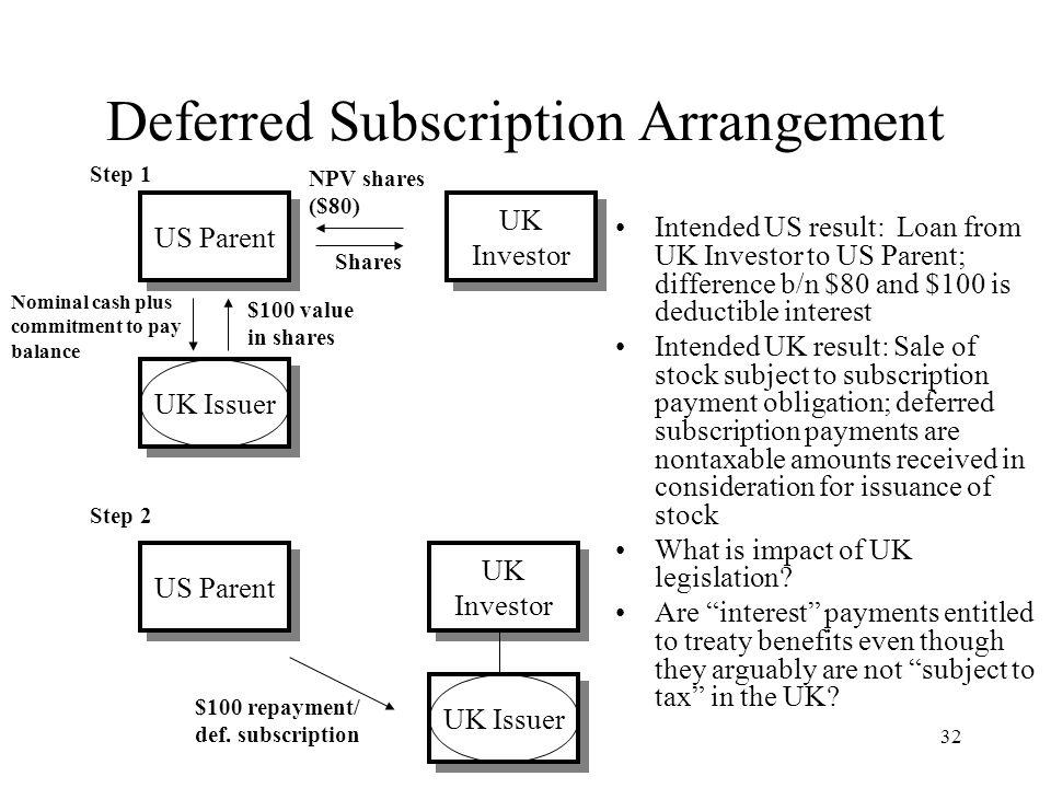 Us uk tax treaty stock options